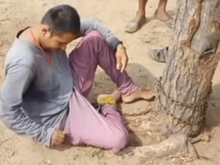 मानसिक स्थिति खराब होने के कारण घरवालों और लोगों पर फेंकने लगा था पत्थर, परेशान होकर परिवार वालों ने ही उठाया ये कदम|जोधपुर,Jodhpur - Dainik Bhaskar