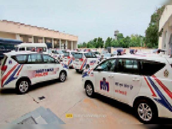 पानीपत. पुलिस काे मिली डायल 112 गाड़ियां। - Dainik Bhaskar