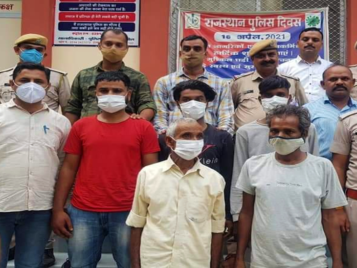 दोहिते की मौत के बाद रंजिश पाले बैठे कालू ने करवाई थी शंकर की हत्या, 5 बदमाशों को दी थी शंकर को मारने की सुपारी, पुलिस ने किया गिरफ्तार|उदयपुर,Udaipur - Dainik Bhaskar