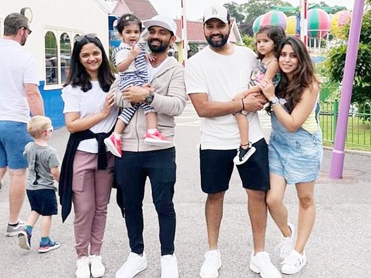परिवार के साथ बगैर मास्क के घूमे रोहित-रहाणे, पंत फुटबॉल मैच देखने पहुंचे तो अश्विन ने विम्बलडन का मजा लिया|क्रिकेट,Cricket - Dainik Bhaskar