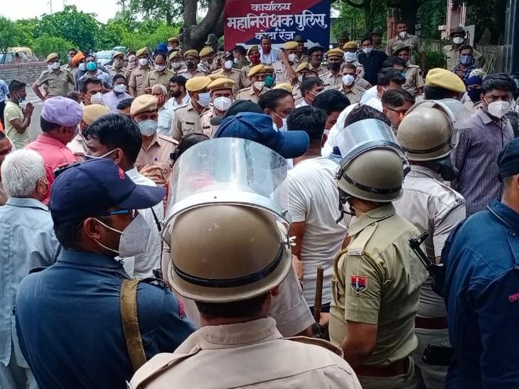हिंदू संगठनों ने प्रदर्शन करते हुए निकाली रैली, कहा- कृष्णा वाल्मीकि के परिजनों को आर्थिक मदद दें सरकार|कोटा,Kota - Dainik Bhaskar