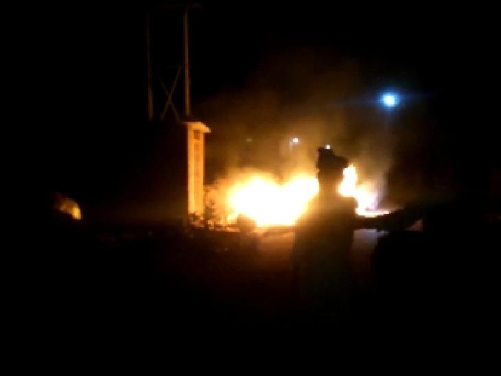 सचिव की दुकान में लगायी गयी आग - Dainik Bhaskar