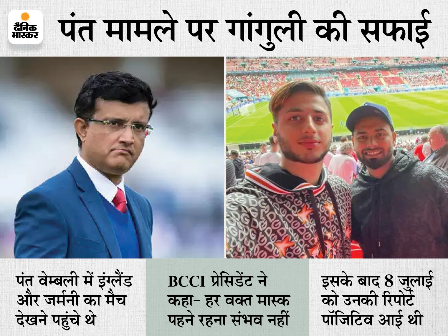 पंत की लगातार दूसरी कोरोना टेस्ट रिपोर्ट निगेटिव, 7 दिन लंदन में ही रहेंगे; साहा, ईश्वरन और बॉलिंग कोच को भी राहत|क्रिकेट,Cricket - Dainik Bhaskar