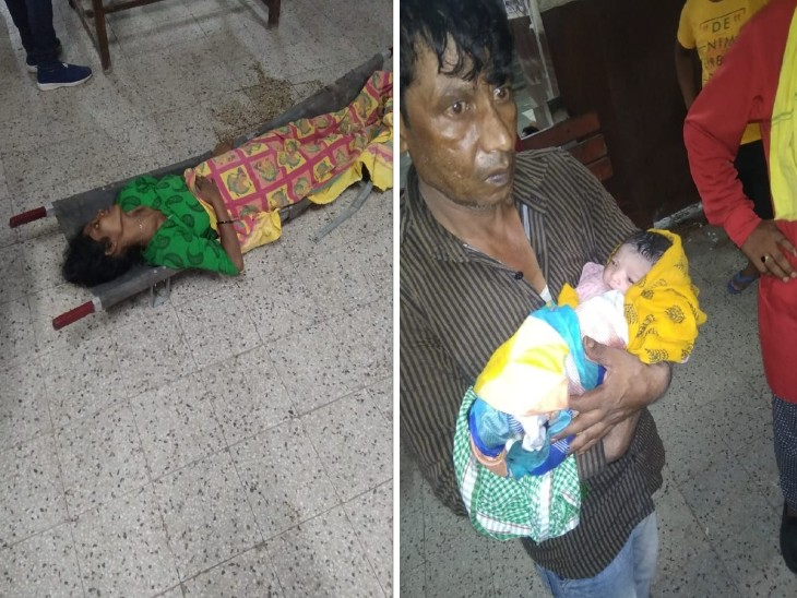 अचानक प्रसव पीड़ा होने पर पति ने पत्नी को प्लेटफार्म पर उतारा, जीआरपी कांस्टेबल ने महिलाओं की सहायता से बचाई जच्चा-बच्चा की जान|मिर्जापुर,Mirzapur - Dainik Bhaskar
