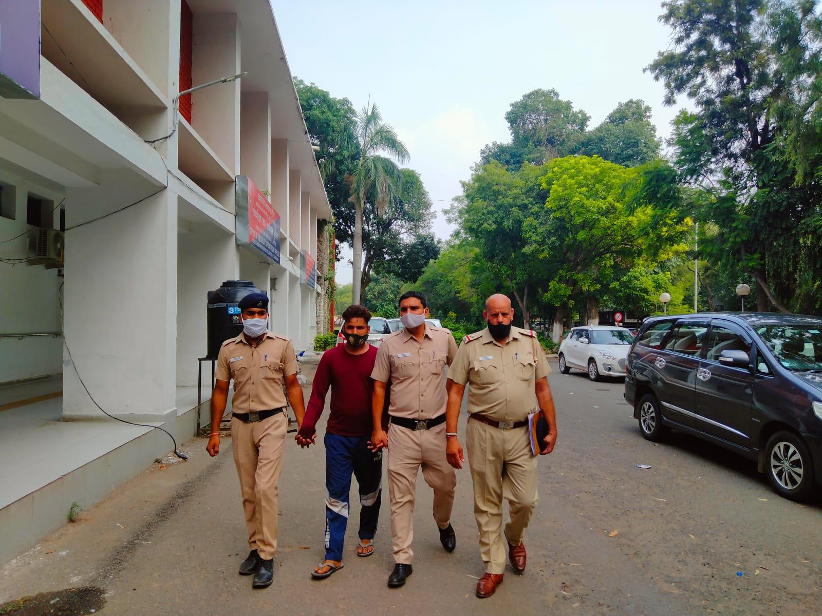गैंगस्टरों के संपर्क में रहता था; देसी कट्टा और कारतूस बरामद, किसी बड़ी वारदात को अंजाम देने की फिराक में था|चंडीगढ़,Chandigarh - Dainik Bhaskar