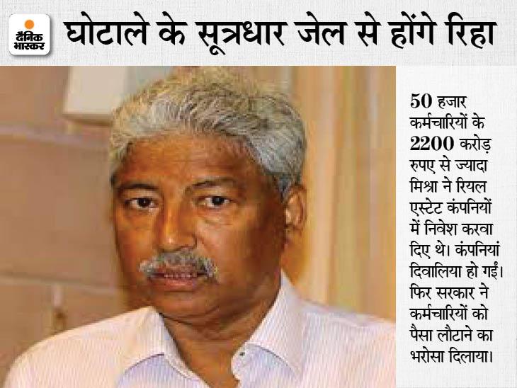50 हजार कर्मचारियों के पीएफ का पैसा निजी कंपनियों में लगा दिया था मिश्रा ने, दो साल से थे जेल में|लखनऊ,Lucknow - Dainik Bhaskar