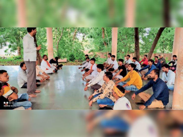 धर्मांतरण करने आए लोगों के खिलाफ सकल हिंदू जागरण मंच गांवों में लोगों को करेंगे जागरूक|निवाली,Niwali - Dainik Bhaskar