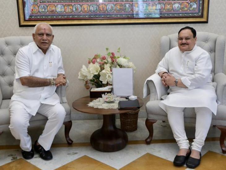 इस्तीफे की अटकलों के बीच नड्डा और शाह से मिले मुख्यमंत्री येदियुरप्पा; इस्तीफे के सवाल पर बोले- इसमें कोई सच्चाई नहीं|देश,National - Dainik Bhaskar