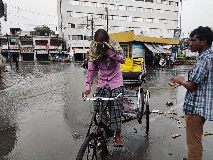 गोरखपुर में 7 घंटे से बरसात हो रही, लखनऊ में रिमझिम फुहार से मिली गर्मी से राहत|लखनऊ,Lucknow - Dainik Bhaskar