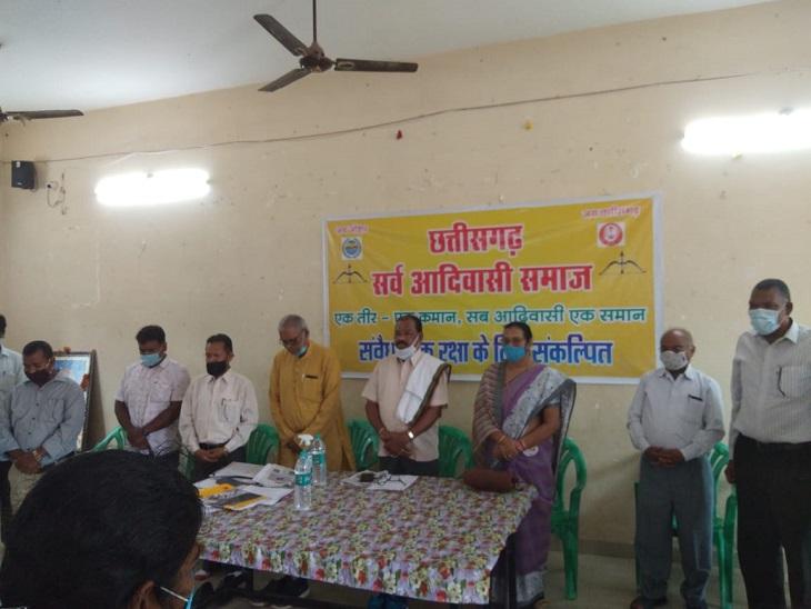पिछले महीने सोहन पोटाई गुट की बैठक में राज्य सरकार के खिलाफ बड़े आंदोलन की घोषणा हुई थी। - Dainik Bhaskar