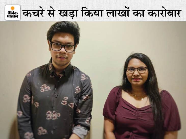21 साल के सन्नी ने पढ़ाई के दौरान प्लास्टिक वेस्ट से फर्नीचर बनाना शुरू किया, एक साल में 12 लाख रु. का बिजनेस, 4 लोगों को नौकरी भी दी|DB ओरिजिनल,DB Original - Dainik Bhaskar