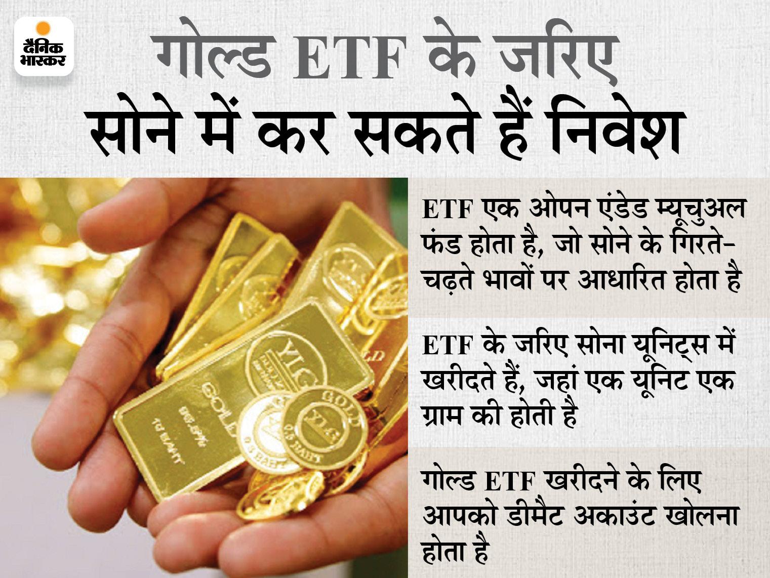 लोगों को रास आ रहा गोल्ड ETF, अप्रैल-जून तिमाही में इसमें 1,328 करोड़ रुपए का निवेश हुआ|बिजनेस,Business - Dainik Bhaskar