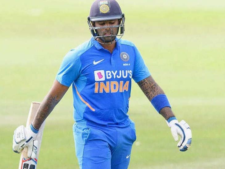 सूर्यकुमार ने इंग्लैंड के टी-20 मैच की खेली 2 पारियों में एक हाफ सेंचुरी की मदद से 89 रन बनाए थे। - Dainik Bhaskar