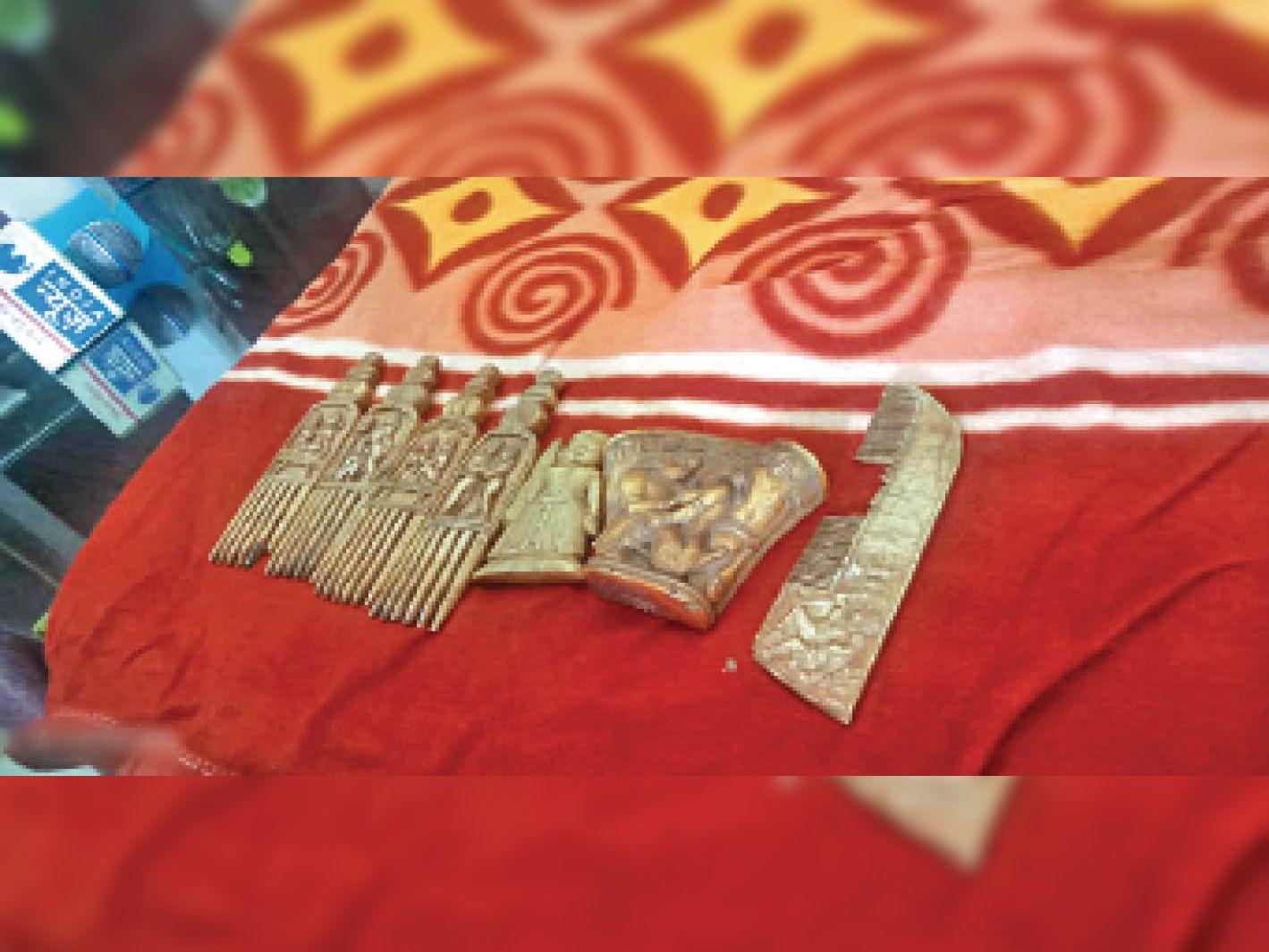 हाथी दांत से बनी कलाकृति समेत एक गिरफ्तार, 3 लाख में बेचने की फिराक में था महासमुंद,Mahasamund - Dainik Bhaskar