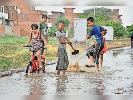 बरवाला व नारनौंद में बारिश के बाद राहत, कम दबाव का क्षेत्र बनने से दो दिन बारिश की संभावना|हिसार,Hisar - Dainik Bhaskar