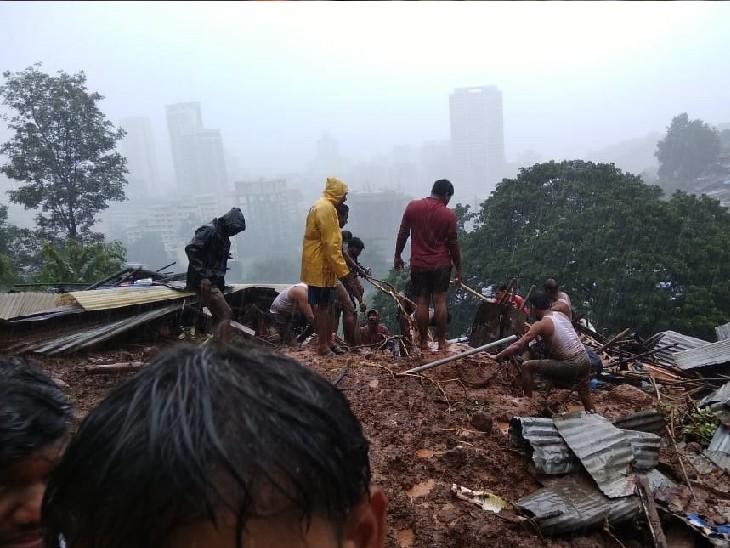 ठाणे में लैंडस्लाइड के बाद मलबा घर पर गिरा, 3 बच्चों समेत 5 लोगों की मौत; उत्तराखंड में बादल फटने से 3 की जान गई|महाराष्ट्र,Maharashtra - Dainik Bhaskar