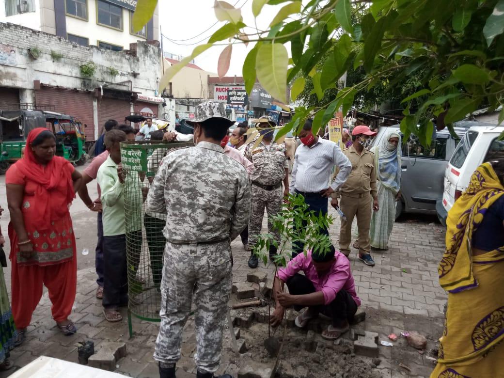 पौधारोपरण करने गई नगर निगम की टीम को झेलना पड़ा झुग्गी झोपड़ी वालों का विरोध|बरेली,Bareilly - Dainik Bhaskar