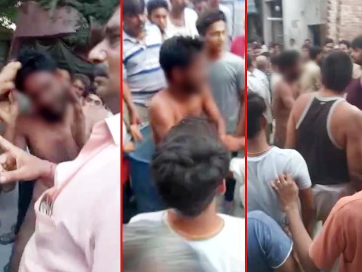 संभल में बाइक चोरी के शक में बीच सड़क पर युवक को जूते और चप्पलों से पीटा, 3 आरोपी गिरफ्तार, एक की तलाश|मुरादाबाद,Moradabad - Dainik Bhaskar