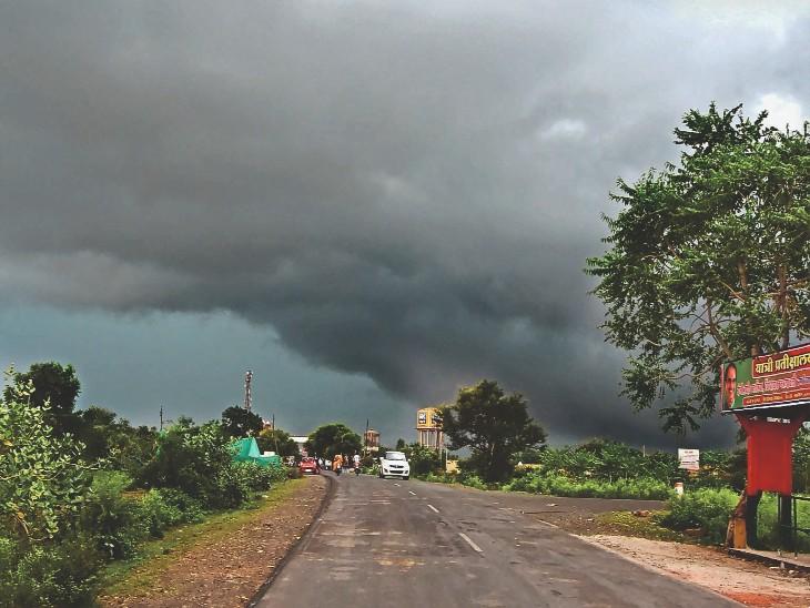 दो दिन अच्छी बारिश के संकेत, बिन बारिश की काली घटा|सागर,Sagar - Dainik Bhaskar