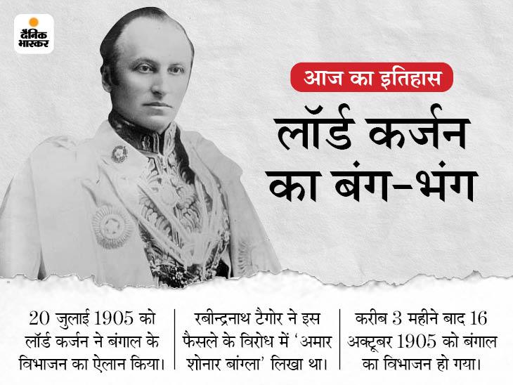 फूट डालो और राज करो नीति की पहली साजिश थी बंगाल विभाजन की घोषणा, लॉर्ड कर्जन के फैसले का देशभर में हुआ था विरोध|देश,National - Dainik Bhaskar