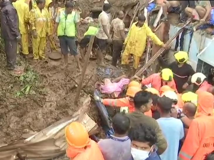 रविवार को मुंबई में भारी बारिश के कारण हुए अलग-अलग हादसों में 30 लोगों की मौत हो गई। इनमें से 17 लोगों की मौत चेंबूर में लैंडस्लाइड से हुई।