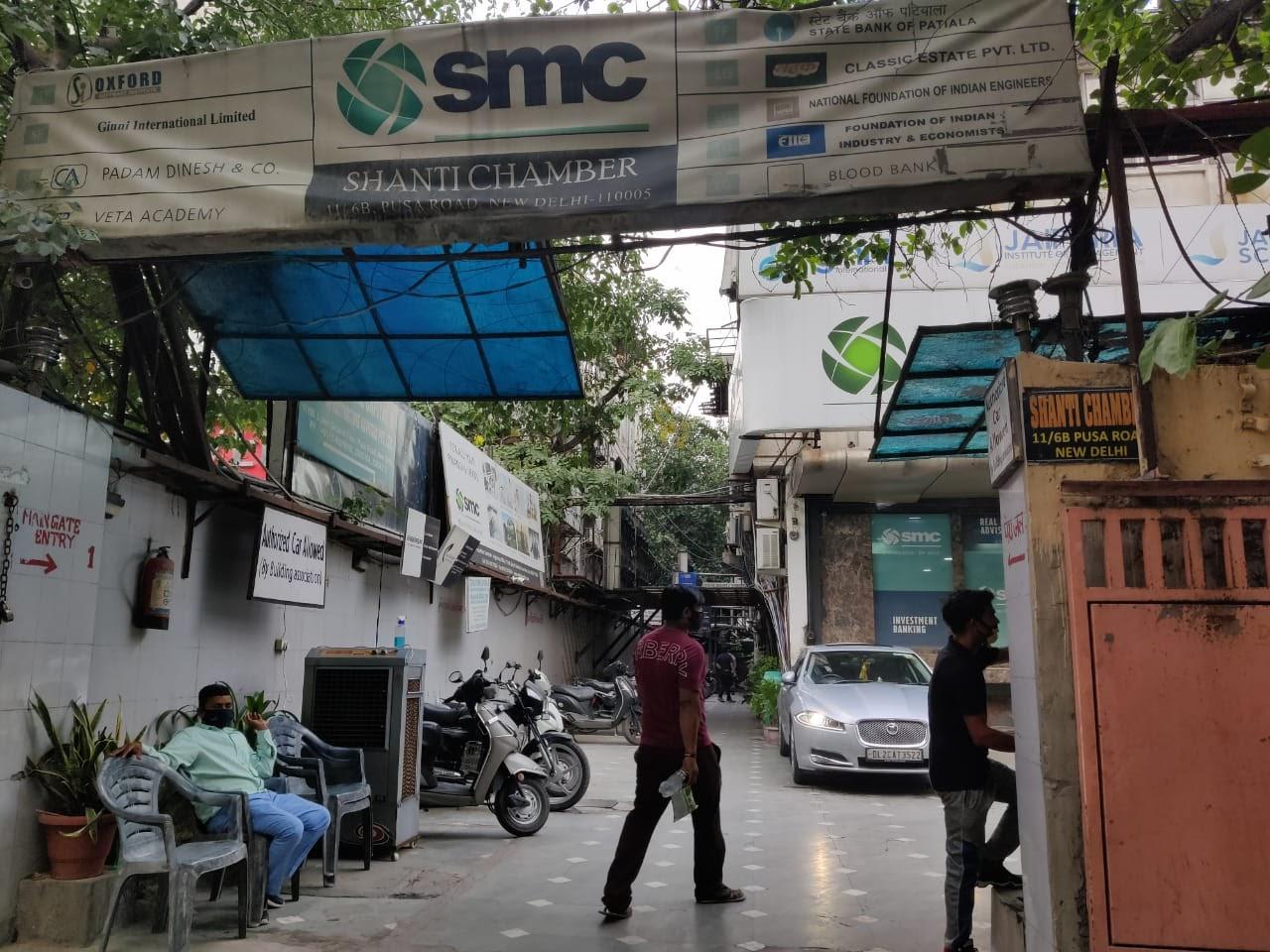 दिल्ली की पूसा रोड पर वह शांति चैम्बर्स जहां कॉल फॉर जस्टिस का रजिस्टर्ड ऑफिस बताया गया है।- फोटो: संध्या