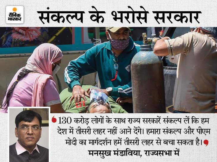सरकार बोली- ऑक्सीजन की कमी से देश में एक भी मौत नहीं हुई, राज्यों की रिपोर्ट का दिया हवाला|देश,National - Dainik Bhaskar