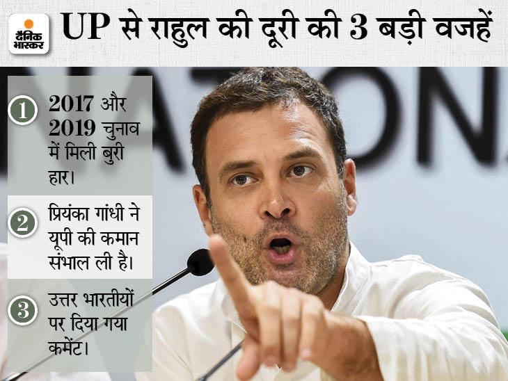 अमेठी में हार मिलने के बाद यूपी की तरफ मुड़कर भी नहीं देखा, दो साल में एक बार आए; 5 पॉइंट्स में समझें राहुल के खिलाफ कैसे प्रचार करेगी BJP लखनऊ,Lucknow - Dainik Bhaskar