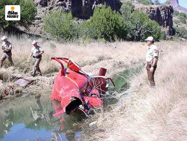 मार्च 2003 में जेफ बेजोस को ले जा रहा हेलिकॉप्टर एक पेड़ से टकराकर दुर्घटनाग्रस्त हो गया था। पश्चिमी टेक्सास में हुए इस हादसे में बेजोस बाल-बाल बच गए थे। उन्हें मामूली चोट आई थीं और कुछ देर बाद ही उन्हें अस्पताल से छुट्टी दे दी गई थी।