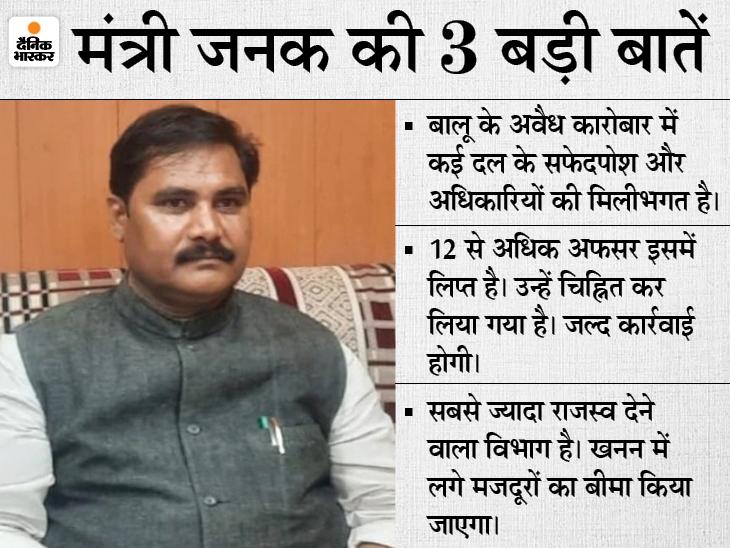 भास्कर से बोले मंत्री जनक राम- रडार पर हैं एक दर्जन से अधिक अफसर, नेताओं की भी मिलीभगत, अफसर-नेता गठजोड़ का जल्द होगा पर्दाफाश|बिहार,Bihar - Dainik Bhaskar