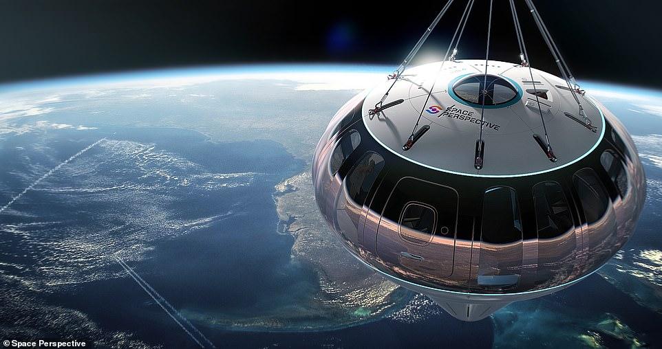 स्पेस कैप्सूल को 30 किमी तक पहुंचने में 2 घंटे लगते हैं। फोटो साभार: स्पेस पर्सपेक्टिव