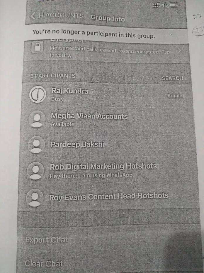 राज कुंद्रा ने H-Accounts नाम क ग्रुप बनाया था जिसके वह एडमिन थे।