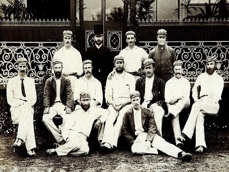 इंग्लैंड दौरे के दौरान ऑस्ट्रेलियाई टीम के खिलाड़ी।