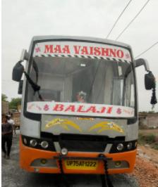 भिंड में सड़क निर्माण से हाईटेंशन लाइन की ऊंचाई हुई कम, दर्शन के लिए जा रहे यात्रियों की स्लीपर बस बिजली के तारों से टकराई, 6 की हालत गंभीर|भिंड,Bhind - Dainik Bhaskar