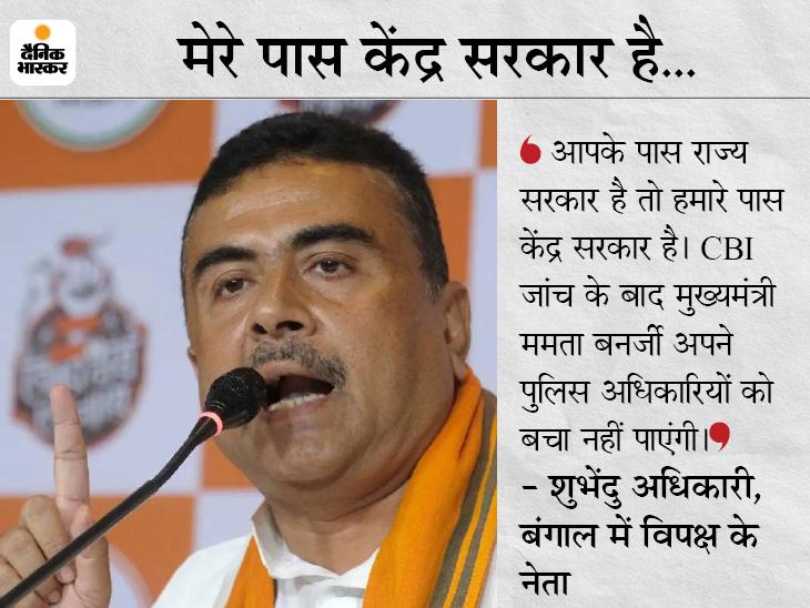 भाजपा लीडर ने ममता सरकार से कहा- भतीजे अभिषेक और पुलिसवालों की बातचीत का सारा रिकॉर्ड है, अफसर बचेंगे नहीं|देश,National - Dainik Bhaskar