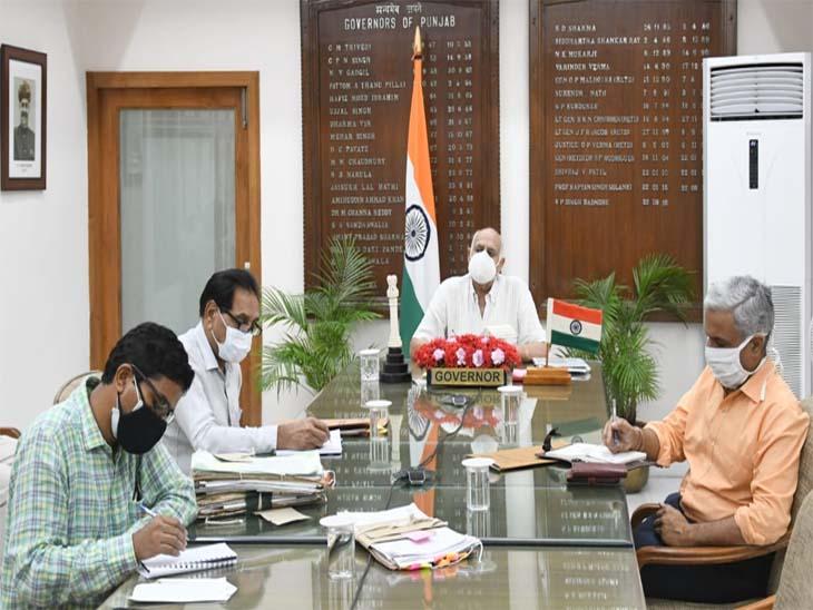 चंडीगढ़प्रशासक ने घर-घर वैक्सीनेशन की सराहना की, और कहा जब तकएसडीएम से अनुमति नमिले शहर में कोई धरना-प्रदर्शन न कर सके|चंडीगढ़,Chandigarh - Dainik Bhaskar
