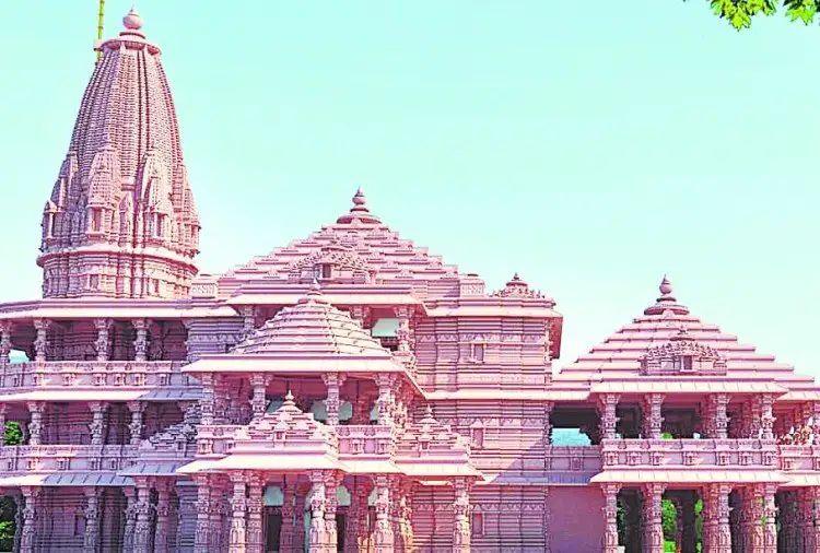 रामलला मंदिर का माडल
