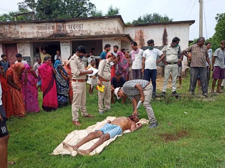 सुबह नहाते समय जमींदार पिता पर पीछे से किया लाठी डंडे से हमला, मौत होने के बाद अनजान बनकर आ गया था घर, पुलिस ने पकड़ा|रीवा,Rewa - Dainik Bhaskar