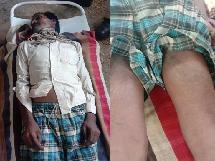 चोरी का आरोप लगाकर दुकानदार व 3 पुलिसवालों ने पीटा; अपमान से आहत पल्लेदार फांसी पर झूला|जबलपुर,Jabalpur - Dainik Bhaskar