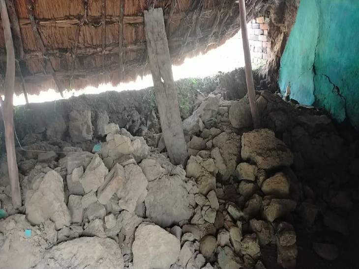 मिर्जापुर कस्बे में मकान की छत भरभराकर गिरी, टूटी नींद; बाल-बाल बचा परिवार सहारनपुर,Saharanpur - Dainik Bhaskar
