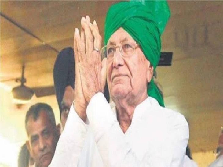 पलवल में कृषि कानूनों के खिलाफ धरना दे रहे किसानों के बीच पहुंचे पूर्व CM चौटाला; मतभेद भुलाकर साथ चलने की अपील|रेवाड़ी,Rewari - Dainik Bhaskar