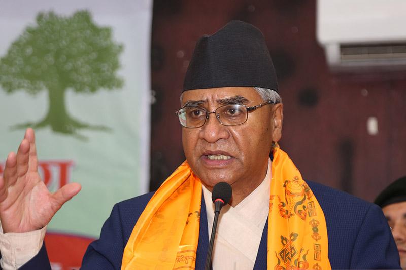 देउबा ने प्रधानमंत्री नरेंद्र मोदी के बधाई संदेश के जवाब में सोशल मीडिया पर अपनी मंशा जाहिर की है। - Dainik Bhaskar