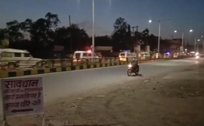पुलिस अधीक्षक किरण कंग सिद्धू भी झालावाड़ से अतिरिक्त पुलिस जाब्ते के साथ गंगधार पहुंच गई