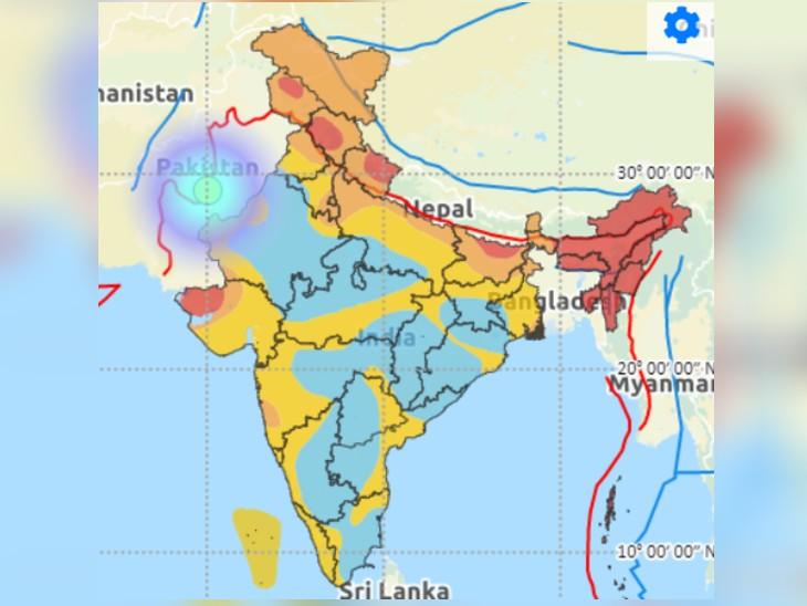 राजस्थान के बीकानेर में आया भूकंप 5.3 तीव्रता का है, इस तरह के भूकंप से इमारतों को नुकसान पहुंच सकता है। - Dainik Bhaskar
