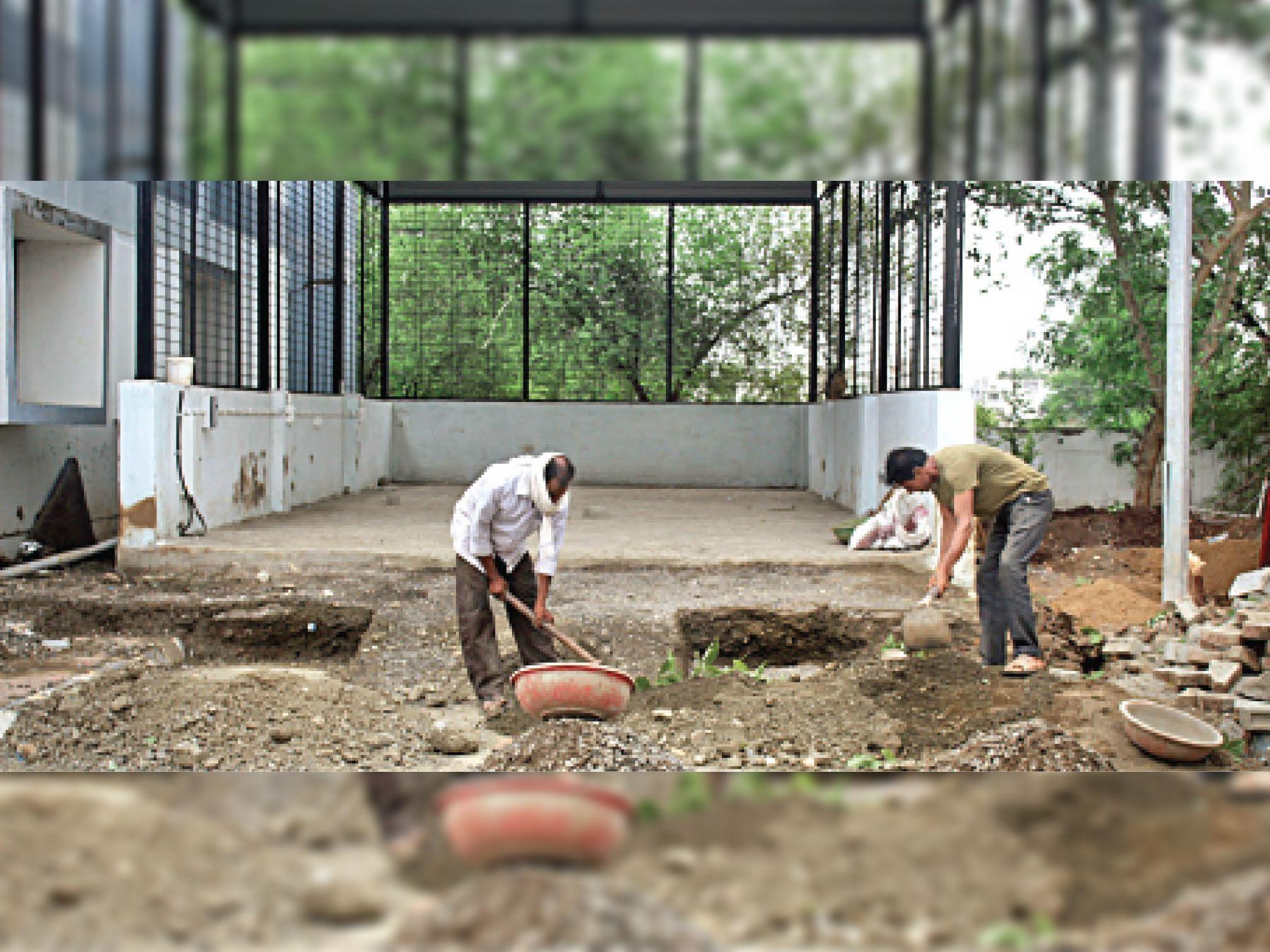शेड बड़ा करने का काम शुरू, कोरोना की तीसरी लहर से पहले हो रही तैयारी|बुरहानपुर,Burhanpur - Dainik Bhaskar