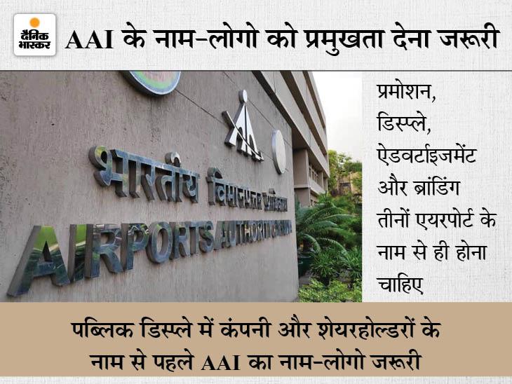 अडाणी ग्रुप ने पहले तोड़ा एयरपोर्ट पर ब्रांडिंग और लोगो का करार, अपनी और सरकार की कमेटी ने दिखाया आइना तो करने लगा सुधार|बिजनेस,Business - Dainik Bhaskar