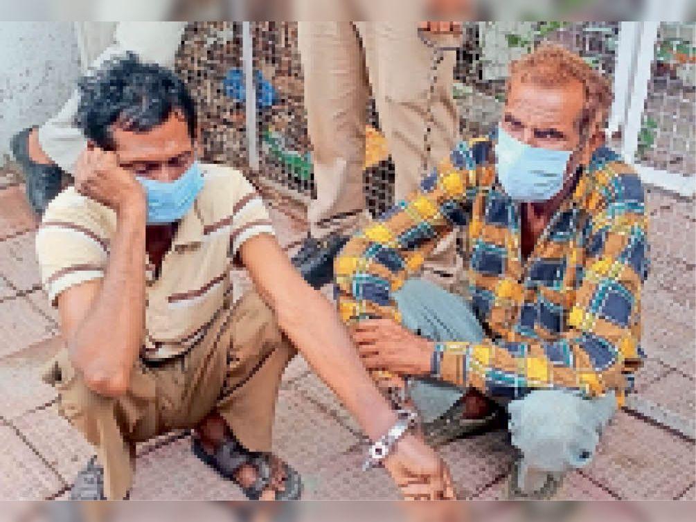 कालाकुंड की नदी में मिले शव के मामले में हत्या करने वाले आराेपी। - Dainik Bhaskar