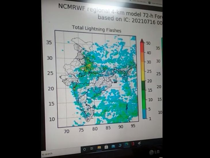 मौसम विभाग के कंप्यूटर में सारा डेटा डालकर अनुमान लगाया जाता है।