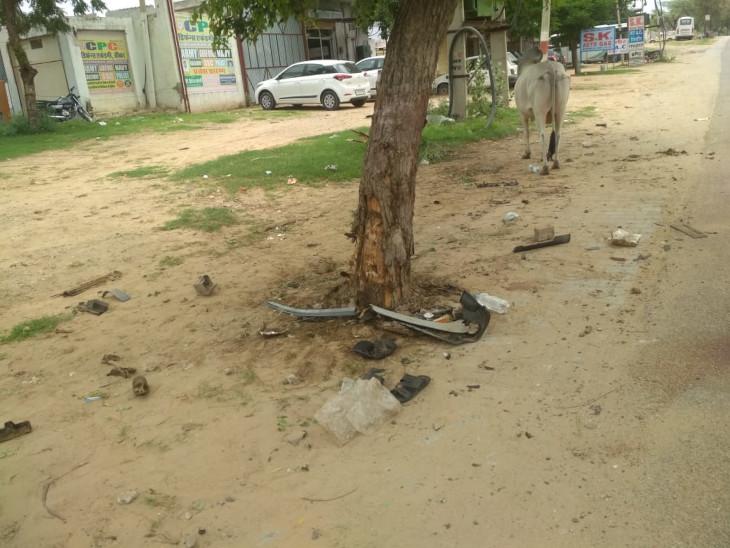 इसी पेड से टकराई थी कार