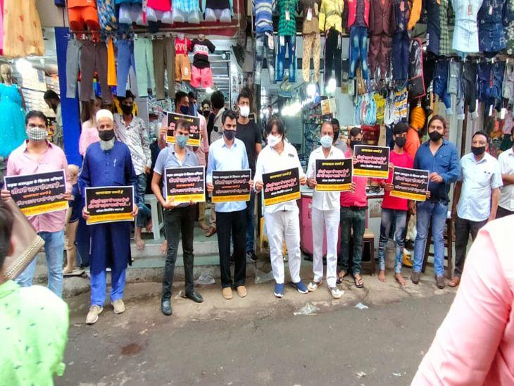 व्यापारिक संगठनों ने वीडियो क्लीपिंग दिखाकर बताई ट्रैफिक व कब्जे की परेशानी, ईद के बाद स्थाई हल निकालेंगे|इंदौर,Indore - Dainik Bhaskar